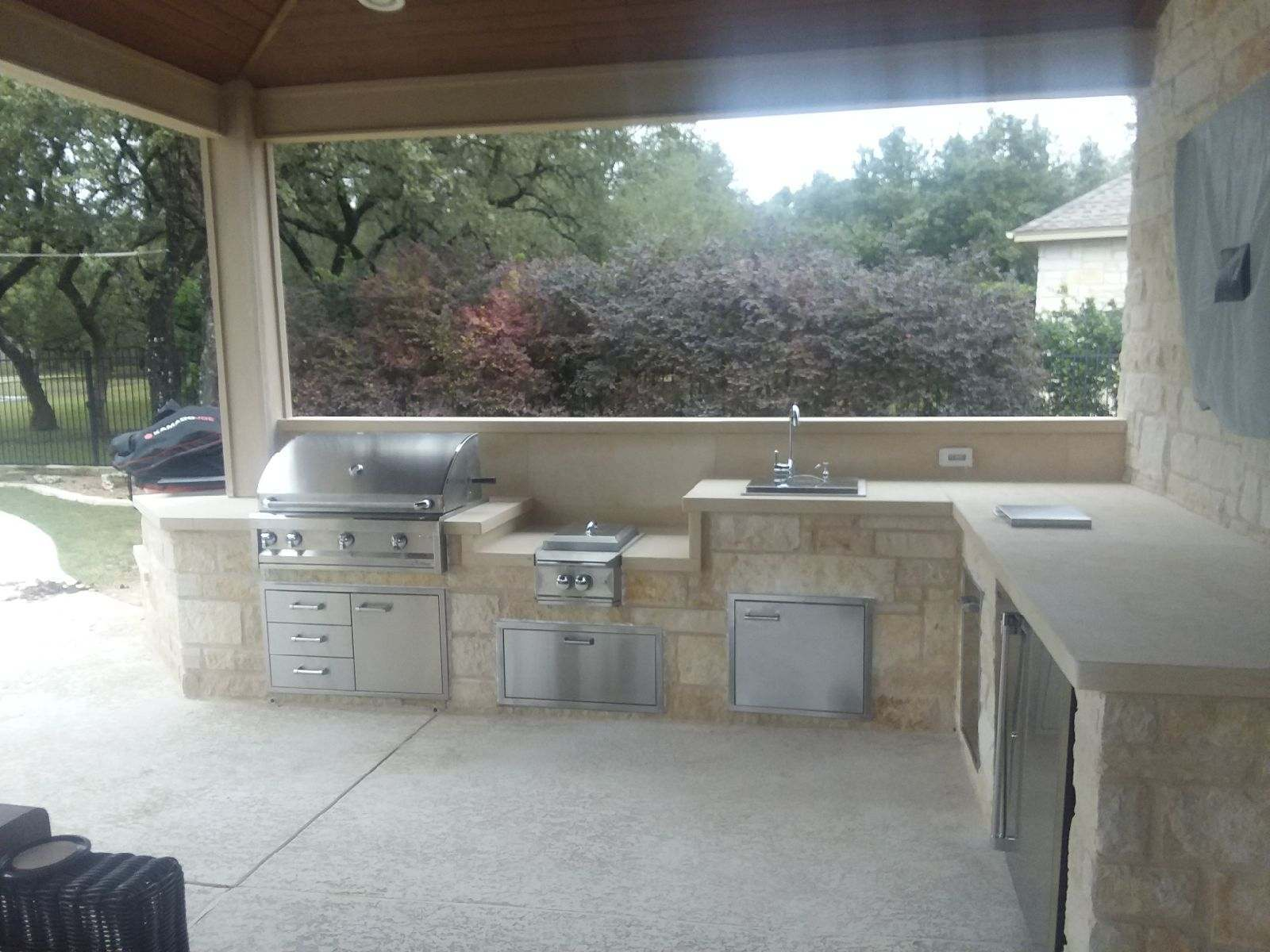 Austin Outdoor Kitchen Austin Decks Pergolas Covered Patios