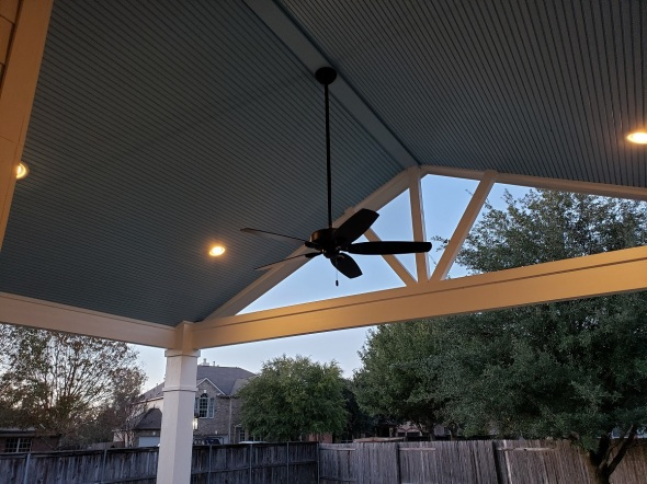 pflugerville tx patio cover with blue interi