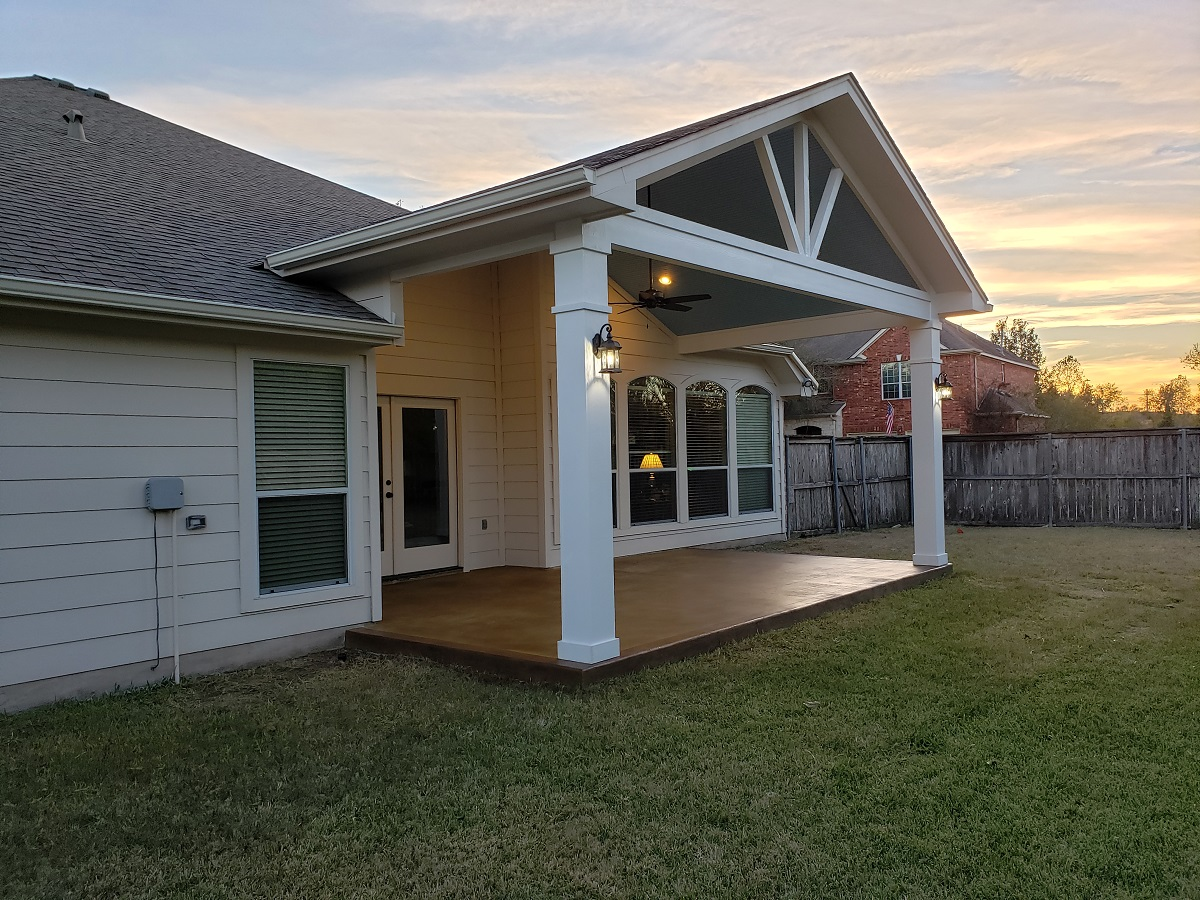 Covered Porch Addition In Pflugerville, TX, Shows
