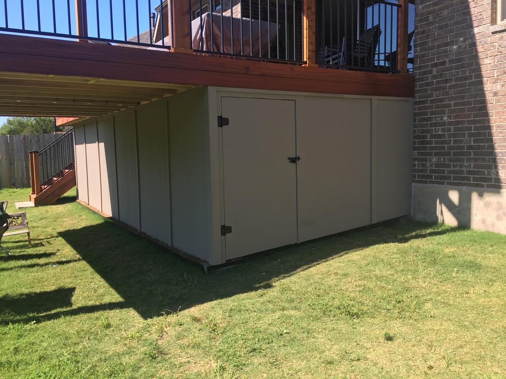 Under Deck Storage Austin Decks Pergolas Covered