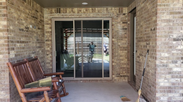 Liberty Hill window to slider door