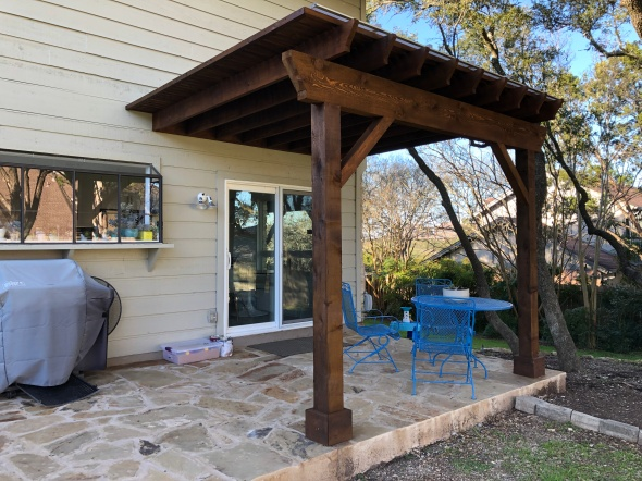 SW Austin screened porch and pergola