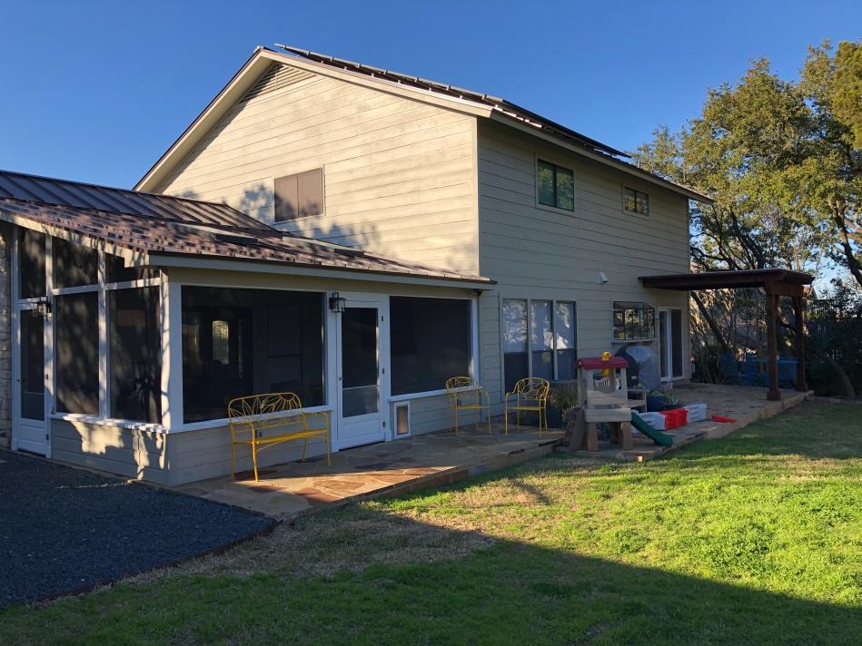 SW Austin screened porch and pergola