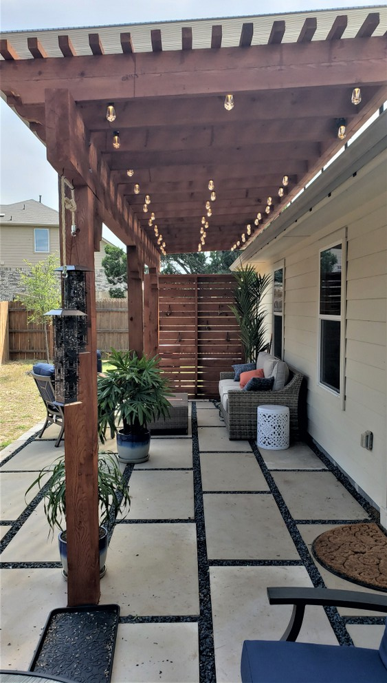 NE Austin permeable patio builder