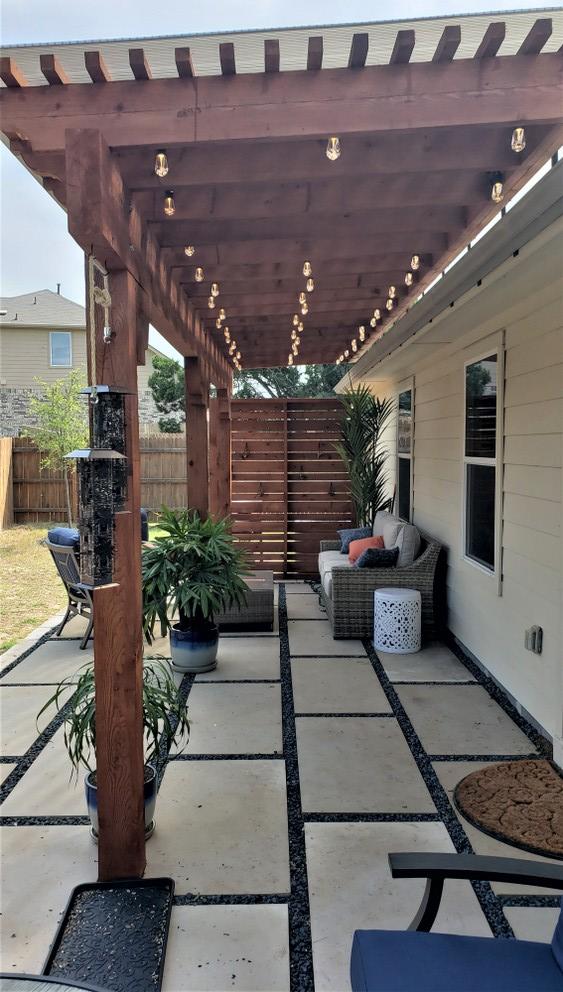 NE Austin permeable patio builder