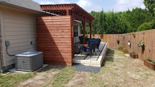 Custom cedar privacy wall