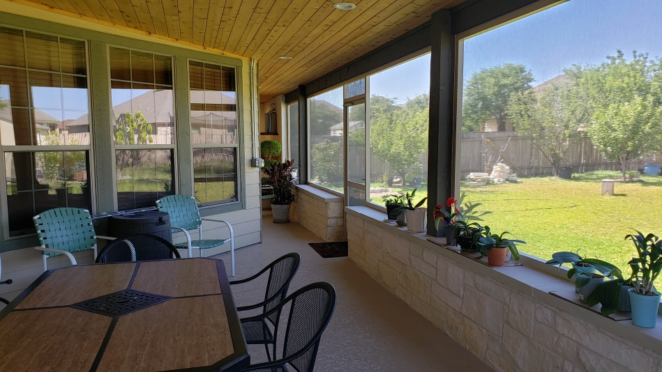 Pflugerville TX Screened Porch