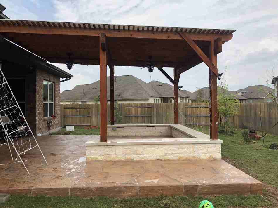 pergola and patio project in NW Austin TX