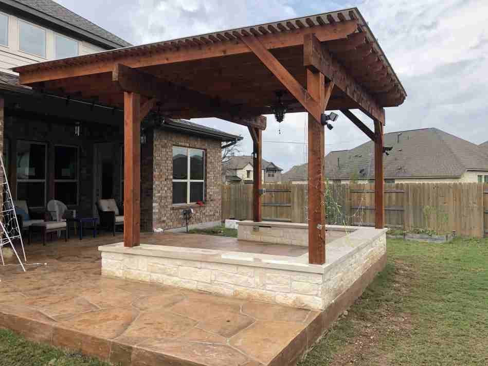new patio and pergola in NW Austin