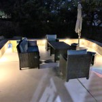 Brushy Creek patio at night