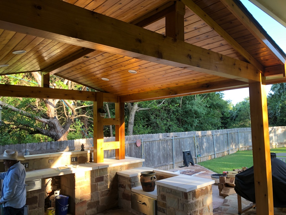 Round Rock TX Covered Patio with Roof Addition