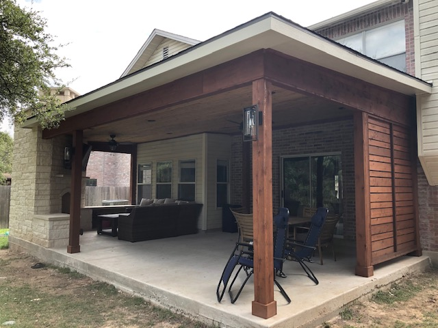 after new patio cover by Archadeck of Austin