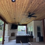 Glorious Covered Patio with Outdoor Fireplace in Cedar Park TX