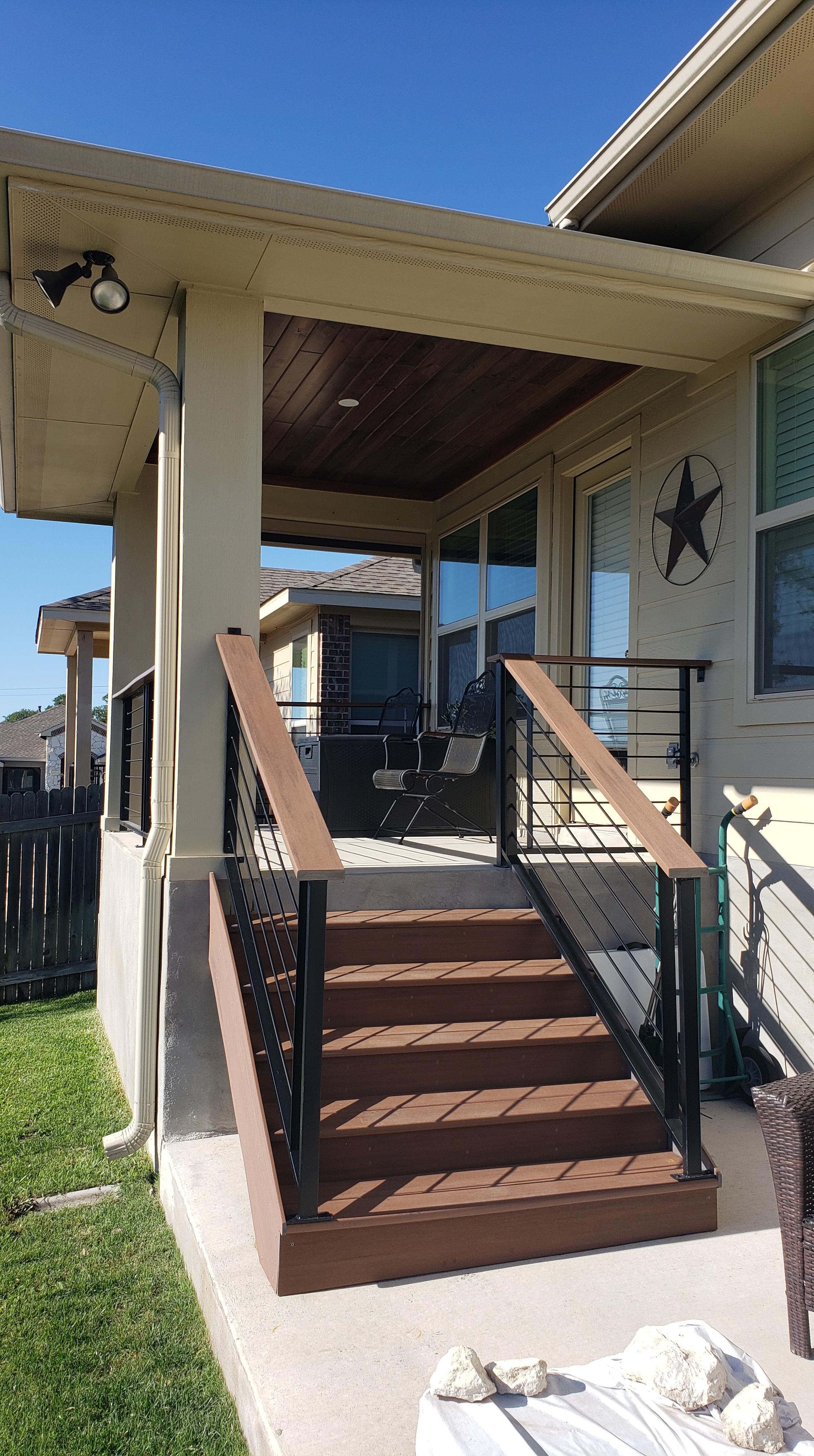 custom back porch hutto tx archadeck of austin