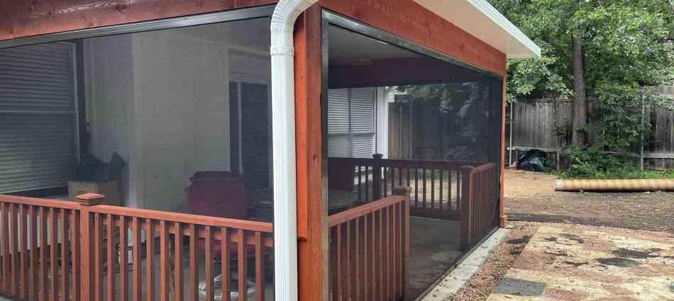 Aluminum Roof Adds Shade and Keeps Rain Away