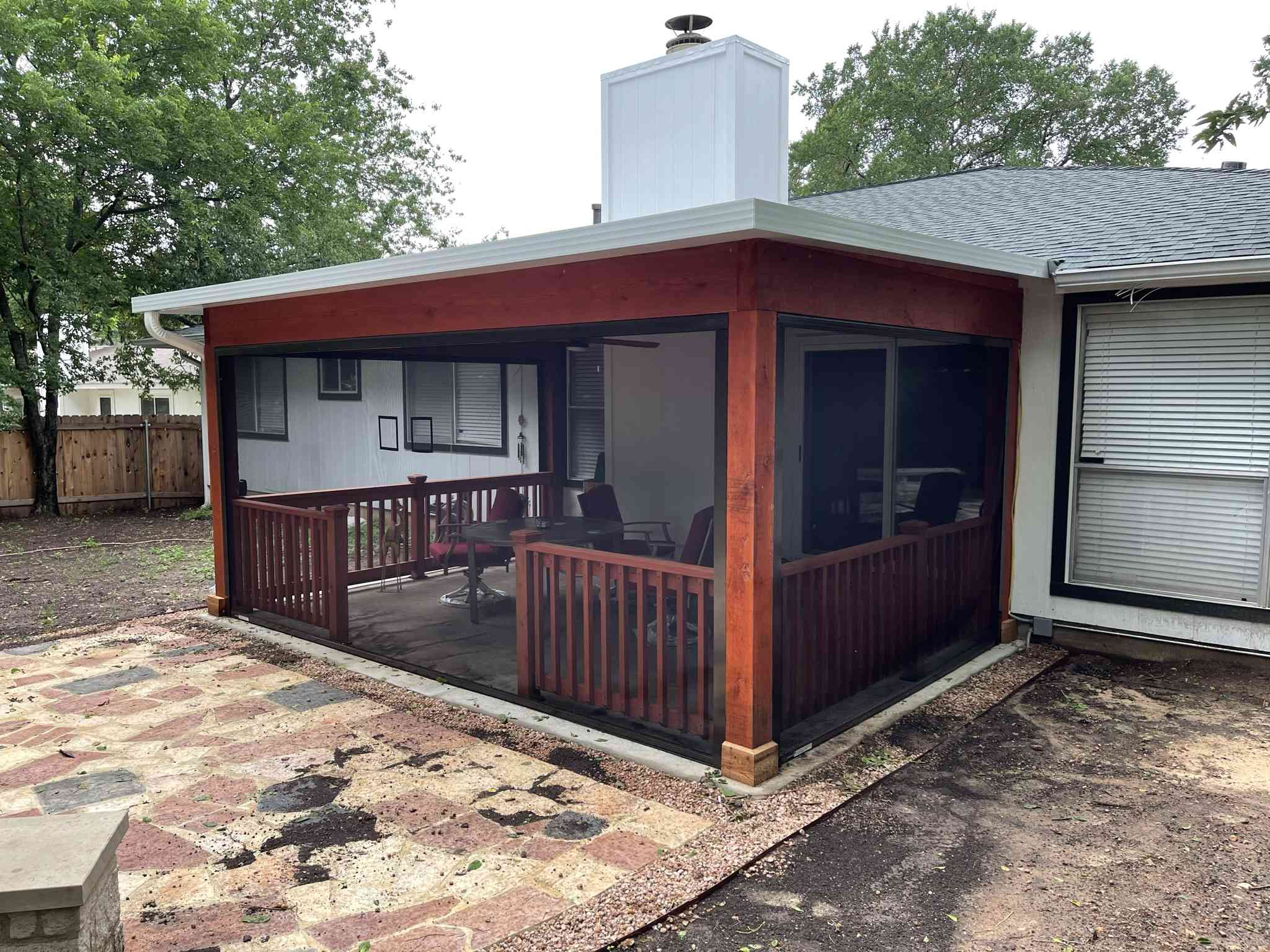 Budget friendly screened room in Austin TX