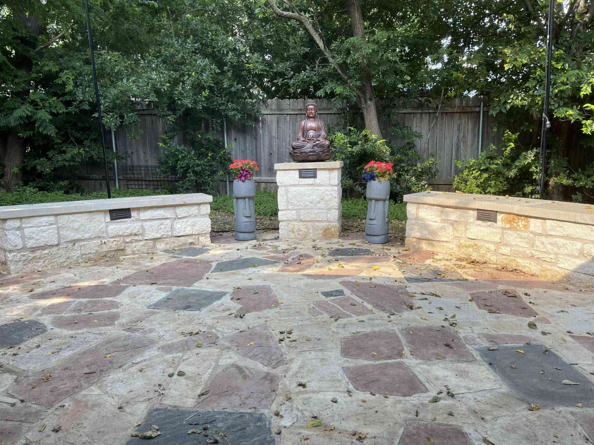 Austin custom flagstone patio