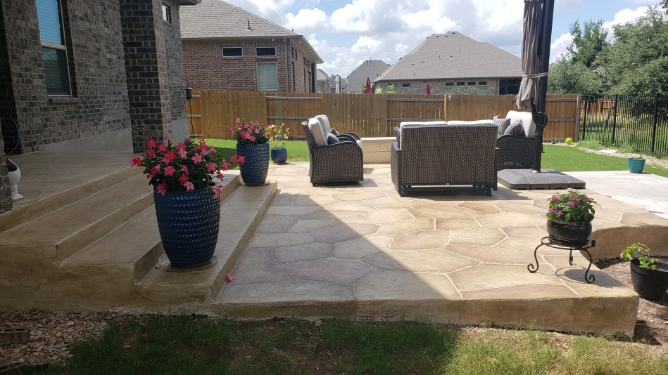 Multi-tiered Patio Extends this Mayfield Ranch Family's Outdoor Options